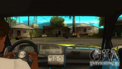 VW Golf Mk3 Top Speed Auto Skola для GTA San Andreas вид изнутри
