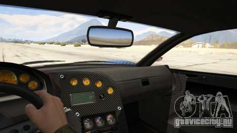 Jester Carbon Line для GTA 5 вид сзади справа
