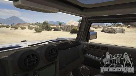 Hummer H2 для GTA 5 вид сзади справа