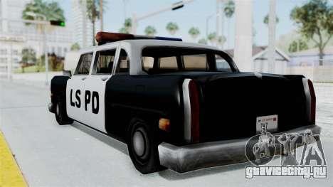 Police Cabbie для GTA San Andreas вид слева