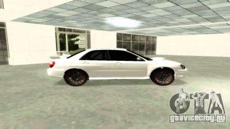 Subaru Impreza WRX STi Civil для GTA San Andreas вид слева