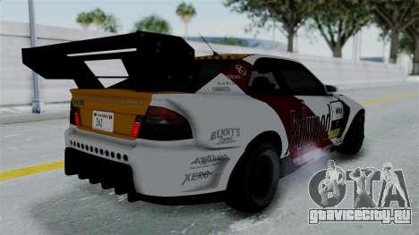 GTA 5 Karin Sultan RS Drift Big Spoiler PJ для GTA San Andreas вид снизу