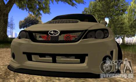 Subaru Impreza WRX STI 2008 LPcars v.1.0 для GTA San Andreas вид слева