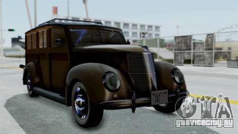 Lincoln Continental 1942 Mafia 2 v1 для GTA San Andreas вид изнутри
