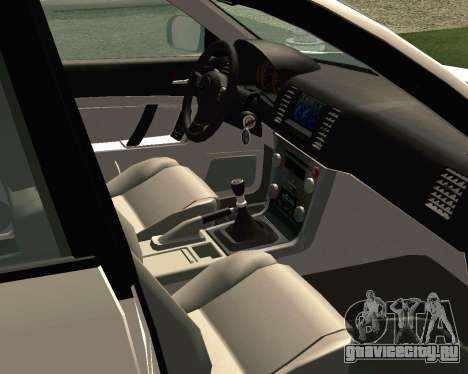 Subaru Legacy для GTA San Andreas вид изнутри
