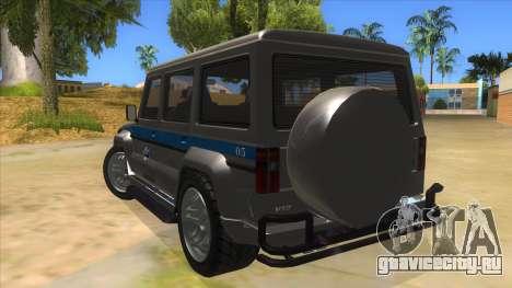 Benefactor Dubsta Jurassic World Security для GTA San Andreas вид сзади слева
