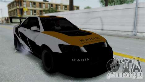 GTA 5 Karin Sultan RS Drift Big Spoiler PJ для GTA San Andreas вид изнутри