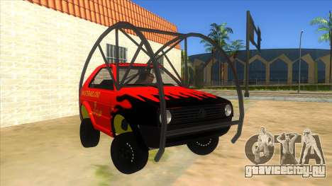 Volkswagen Golf MK2 RollGolf для GTA San Andreas вид сзади