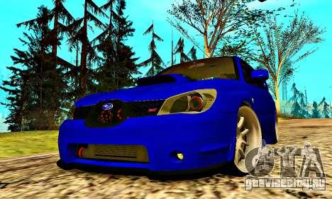 Subaru Impreza WRX STI Lisa для GTA San Andreas вид сверху