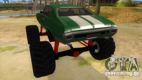 1970 Chevrolet Chevelle SS Monster Truck для GTA San Andreas вид сзади слева