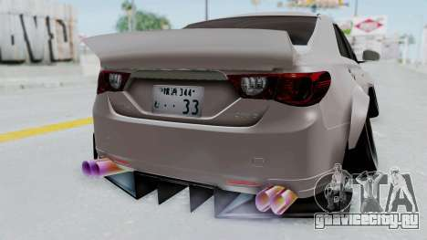 Toyota Mark X Slammed для GTA San Andreas вид справа