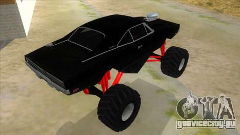 1969 Dodge Charger Monster Truck для GTA San Andreas вид справа