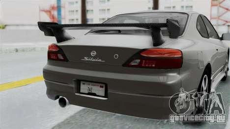Nissan Silvia S15 Spec-R 2000 для GTA San Andreas вид сбоку