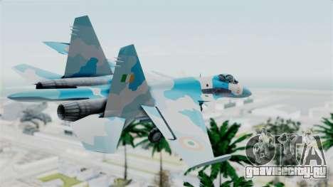 SU-37 Indian Air Force для GTA San Andreas вид слева
