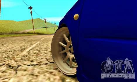 Subaru Impreza WRX STI Lisa для GTA San Andreas вид сбоку