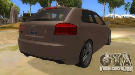 Audi S3 для GTA San Andreas вид справа