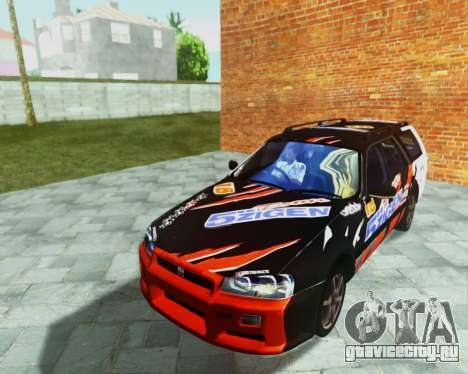Nissan Stagea Tunable для GTA San Andreas вид изнутри
