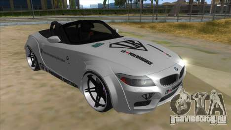 BMW Z4 Liberty Walk Performance Livery для GTA San Andreas вид сзади