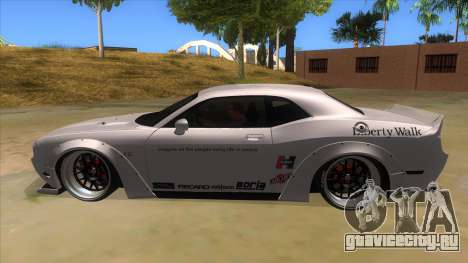 2012 DODGE CHALLENGER SRT8 Liberty Walk для GTA San Andreas вид слева