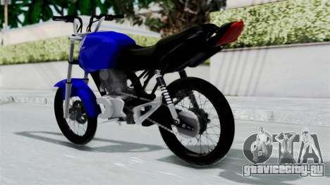 Honda CG Titan 2014 Stunt для GTA San Andreas вид слева