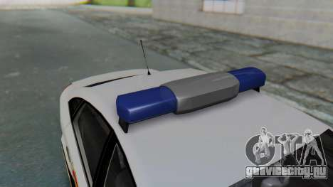 Opel Vectra 2005 Policia для GTA San Andreas вид сзади