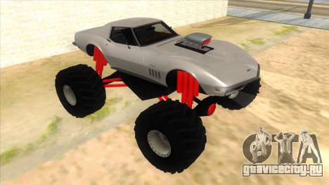 1968 Chevrolet Corvette Stingray Monster Truck для GTA San Andreas вид сзади
