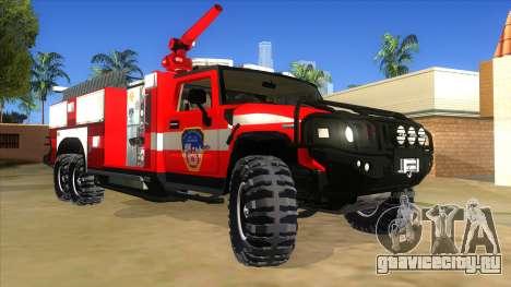 HUMMER H2 Firetruck для GTA San Andreas вид сзади
