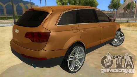 Audi Q7 для GTA San Andreas вид справа