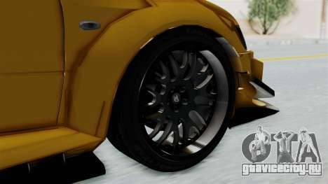 Mitsubishi Lancer Evolution IX MR Edition для GTA San Andreas вид сзади слева