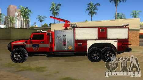 HUMMER H2 Firetruck для GTA San Andreas вид слева