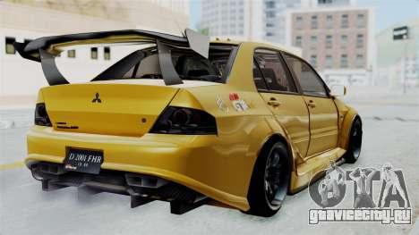 Mitsubishi Lancer Evolution IX MR Edition для GTA San Andreas вид слева
