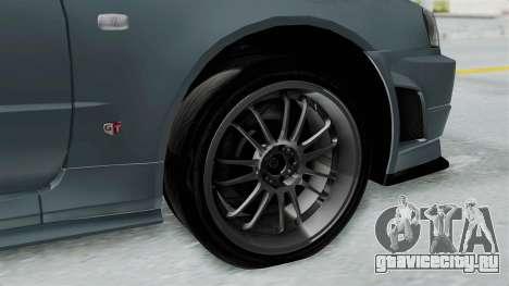 Nissan Skyline GT-R R34 2002 F&F4 для GTA San Andreas вид справа