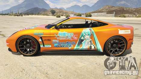 Hatsune Miku Massacro для GTA 5 вид слева