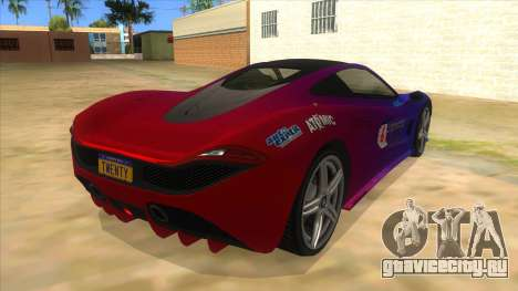 GTA 5 Progen T20 Styled version для GTA San Andreas вид справа