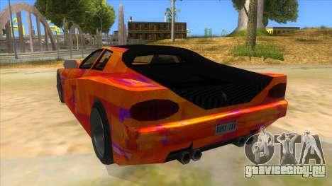GTA 3 Cheetah ZTR для GTA San Andreas вид сзади слева