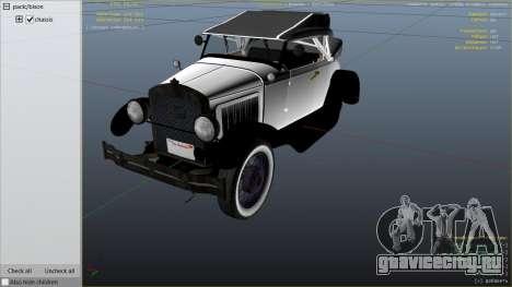 Ford T 1927 Roadster для GTA 5 вид справа