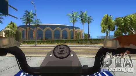 ATV Polaris Police для GTA San Andreas вид изнутри