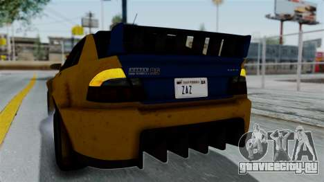 GTA 5 Karin Sultan RS Rally PJ для GTA San Andreas вид сбоку