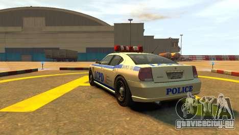 Bravado Buffalo Police Patrol [original wheels] для GTA 4 вид сзади слева