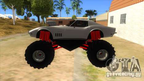 1968 Chevrolet Corvette Stingray Monster Truck для GTA San Andreas вид слева