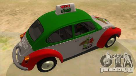 Volkswagen Beetle Pizza для GTA San Andreas вид справа