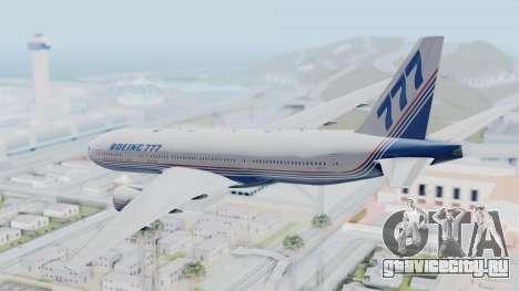 Boeing 777-200 Prototype для GTA San Andreas вид справа