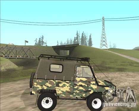 ЛуАЗ 969М Off Road для GTA San Andreas вид слева