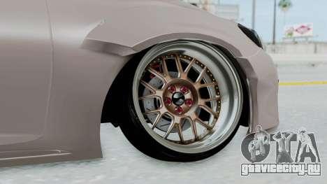 Toyota Mark X Slammed для GTA San Andreas вид сзади слева