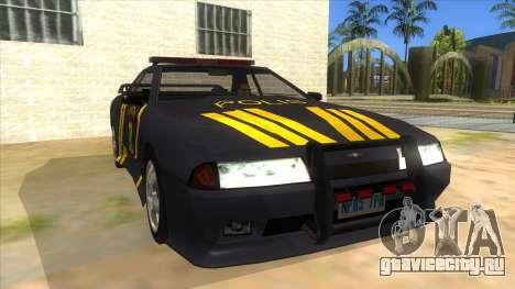 Elegy NR32 Police Edition Grey Patrol для GTA San Andreas вид сзади