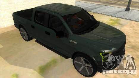 Ford F-150 2015 для GTA San Andreas вид сзади