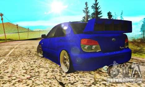 Subaru Impreza WRX STI Lisa для GTA San Andreas вид справа