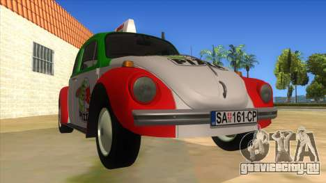 Volkswagen Beetle Pizza для GTA San Andreas вид сзади