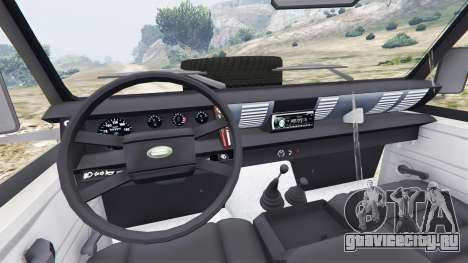 Land Rover Defender 110 Pickup для GTA 5 вид сзади справа