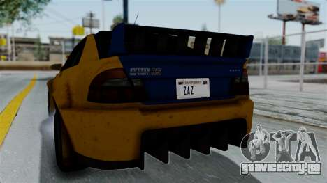 GTA 5 Karin Sultan RS Rally PJ для GTA San Andreas вид изнутри